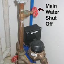 Where is the main water shutoff valve located?