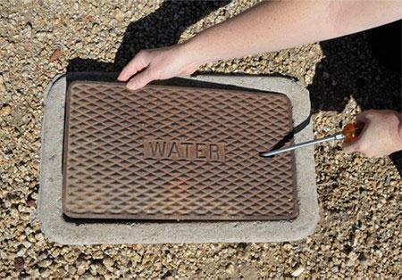 open water meter box